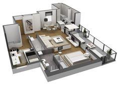 maquetas de casa modernas por dentro - Buscar con Google