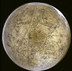 The Mysterious Celestial Spheres of the Ancient Mughal Empire The famous celestial globe of Muhammad Salih Tahtawi is inscribed with Arabic and Persian inscriptions, completed in the year Ancient Mysteries, Ancient Artifacts, Ancient Aliens, Ancient History, Ancient Egypt, Ufo, Empire Moghol, Out Of Place Artifacts, Celestial Sphere