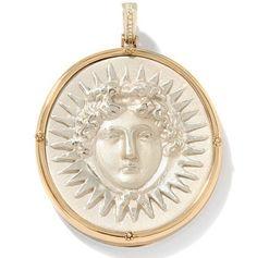 Tagliamonte Helios Intaglio Sterling Silver and Bronze Enhancer Pendant #Tagliamonte #Pendant