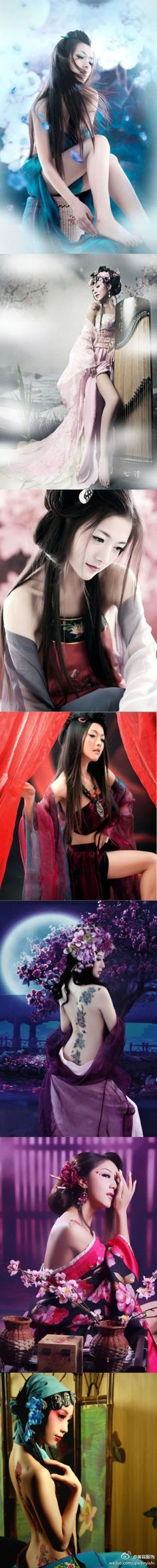 Concubines from different Chinese dynasties