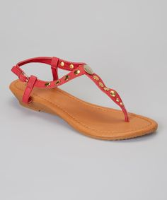 Must get the Red Round Stud Sandal on #zulily today!