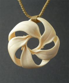 Handcarved ivory necklace - from Waimea Artists' Guild Native Hawaiian arts market