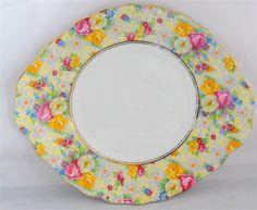 Royal Albert Rosetime Chintz Double Handle Cake Plate