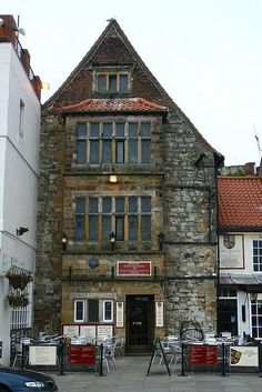 The King Richard III Restaurant, Pub, Scarborough, Yorshire, England.  Built 1350