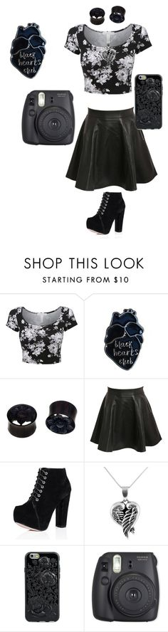 """""""The Executioner(Black Hearts Club)"""" by hellokitty-780 on Polyvore featuring NOVICA, Pilot, Jewel Exclusive and Fuji"""