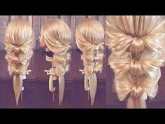 "Pigtail hairstyle - Оформление хвоста - плетение ""Мишень"" - Hairstyles by REM - YouTube"