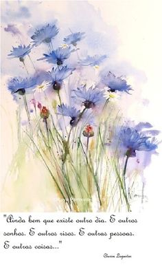 Cornflowers and daisies easy watercolor, watercolour tutorials, watercolor flowers, watercolour painting Watercolor Flowers, Watercolor Paintings, Flower Paintings, Watercolors, Easy Watercolor, Watercolour Tutorials, Painting Flowers, Water Color Painting Easy, Draw Flowers