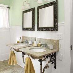 How to build affordable vintage-look wall-mount sinks with salvage materials. | Photo: Deborah Whitlaw Llewellyn | thisoldhouse.com