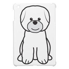 Bichon Frise Dog Cartoon iPad Mini Cover