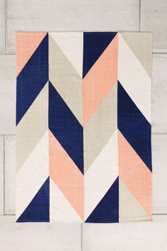 Upstairs Entry Space - Assembly Home Chevron Flip Handmade Rug x2
