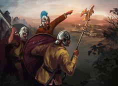 ArtStation - Roman Counterattack, Pawel Kaczmarczyk