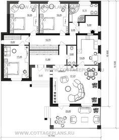 Поэтажные планы проект дома 27-07 общ. площадь 154,80 м2