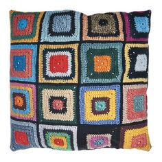 Optical illusion pillow case - not crocheted, just plain cotton fabric!