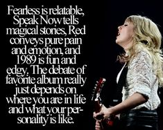 Someone finally put it into words. And her first album is her finding who she is.