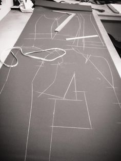 Pattern drafting at SavileRow Training Academy - Oh wow I want to do this