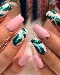 tips nails acrylic - tips nails acrylic short . tips nails acrylic . tips nails acrylic french . tips nails acrylic colored . tips nails acrylic coffin . tips nails acrylic short square Cute Summer Nail Designs, Cute Summer Nails, Cute Nails, Nail Summer, Acrylic Nail Designs For Summer, Tropical Nail Designs, Tropical Nail Art, Coffin Nails Designs Summer, Bright Nail Designs