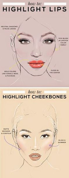Beauty Hacks Ideas : How to Highlight Lips & Cheekbones – Prom Tips Beauty Make-up, Beauty Secrets, Beauty Hacks, Hair Beauty, No Make Up Make Up Look, Eye Make Up, Makeup Inspo, Makeup Inspiration, Prom Tips