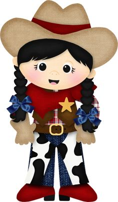 Picture of a cute cowgirl Cowboy Birthday Party, Cowgirl Party, Cowboy Love, Cowboy And Cowgirl, Cowboy Quilt, Clipart Boy, Image Pinterest, Sheep Pig, Westerns