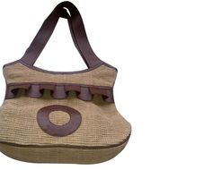 Fancy handbag with leather handle and inside pocket with zipper. It can also be used as promotional bag.