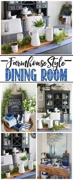 Farmhouse Decor Clean Crisp Organized Farmhouse: Farmhouse Style Dining Room