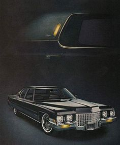 A Cadillac is where all other fine cars learn about Luxury Retro Cars, Vintage Cars, American Classic Cars, American Pride, Cadillac Fleetwood, Cadillac Eldorado, Car Advertising, Us Cars, Car Photos