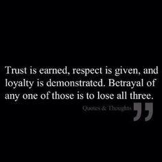 The loss of any one is betrayal