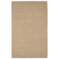 allen   roth�5-ft x 8-ft Rectangular Cream/Beige/Almond Solid Wool Area Rug - possible for playroom - see designmom for upclose image