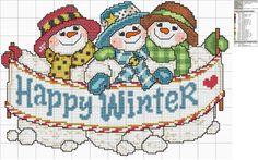 Snowmen Happy Winter.
