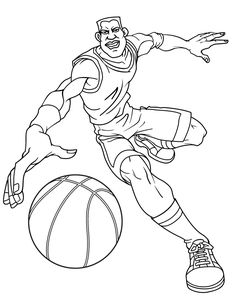 Basketball coloring pages | Free Mens Basketball Player Coloring ...