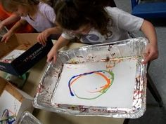 """SUPPLIES NEEDED 12"""" x 18"""" box tops or aluminum cooking pans 12"""" x 18"""" paper paints marble forks   Introduce students to the work of Jackson ..."""