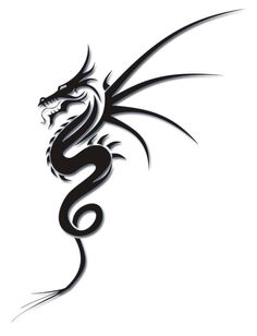 In the tattoo world, tribal dragon tattoos are gaining popularity and this tatto. - In the tattoo world, tribal dragon tattoos are gaining popularity and this tattoo design is becomin - Trendy Tattoos, New Tattoos, Body Art Tattoos, Small Tattoos, Tattoos For Guys, Cool Tattoos, Tribal Tattoo Designs, Simple Tattoo Designs, Dragon Tattoo Designs