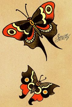 sailor jerry butterflies, my next tattoos