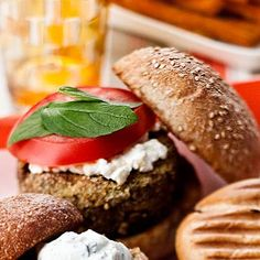 Caramelized Onion-Veggie Burger - 5 Veggie Burger Recipes We Love - Health.com
