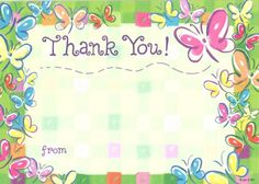 What a better way to say THANKS than with a fun, easy to use fill-in style #girls #pink butterfly Thank You Card from Lil Pickle! Help encourage the lost art of w...
