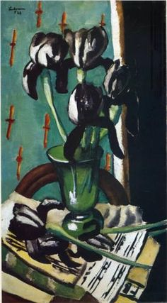 Max Beckmann, Black Irises, 1928