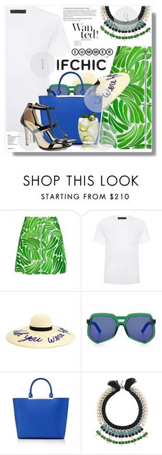 """Summer Ready With Ifchic"" by myfashionwardrobestyle ❤ liked on Polyvore featuring Markus Lupfer, American Retro, Eugenia Kim, Grey Ant, Karl Lagerfeld, Joomi Lim and Dee Keller"