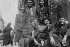 WACs and soldiers in Paris on VE Day, 1945 - The Betty H. Carter Women Veterans Historical Project - UNCG University Archives