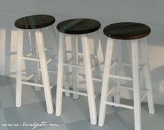 Need to do this with my two barstools in my craftroom....along with a complete make-over!!!