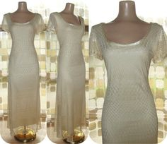 Vintage 90s Ivory Sheer Crochet Illusion Lace by IntrigueU4Ever, $38.99