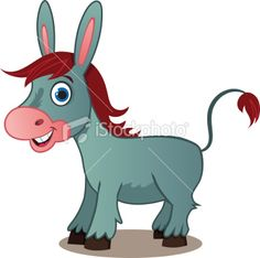 mule cartoon | Cartoon Donkey Royalty Free Stock Vector Art Illustration
