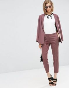 ASOS Ankle Grazer Cigarette Trousers in Crepe $152.00