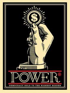 Shepard Fairey - Obey Giant - Power Bidder - S/N - 2015 - Rare political Art Protest Kunst, Protest Art, Graffiti Art, Art Obey, Shepard Fairey Art, Illustration Photo, Propaganda Art, Design Art, Graphic Design
