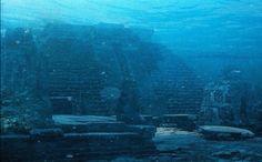 Underwater Pyramid off the Coast of Okinawa, Japan.