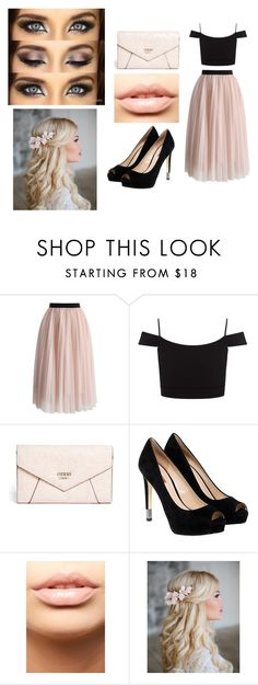 """""""Untitled #51"""" by piano4699 on Polyvore featuring Chicwish, Lipsy, GUESS and MDMflow"""