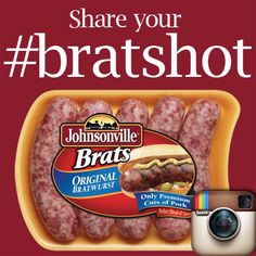 Share any pic of a Johnsonville Brat or Sausage & tag it with #bratshot on Instagram. Three lucky winners will be picked 2/1/13 to get a free pack of brats!