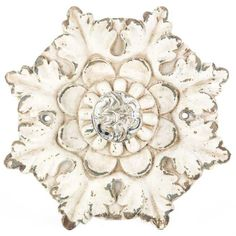 Design and decorate your own shabby-chic bedroom, living room, or office starting with this gorgeous Flower-Shaped Ivory Plaque with Clear Knob! Frozen Girls Room, Frozen Room, Shabby Chic Office, Shabby Chic Homes, Shabby Chic Birthday Party Ideas, Distressed Walls, Art Craft Store, Knobs And Pulls, Drawer Pulls