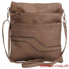 Sehr schöne Tasche mit Nieten verziert Kaufen suchen Online Schweiz Bags, Fashion, Elegant Woman, Beautiful Bags, Riveting, Switzerland, Artificial Leather, Shoulder, Handbags