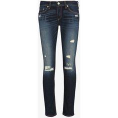Rag & Bone Shredded Capri ($730) ❤ liked on Polyvore featuring pants, jeans, bottoms and rag & bone