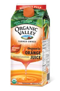 Organic Valley Orange Juice - It makes you happy.