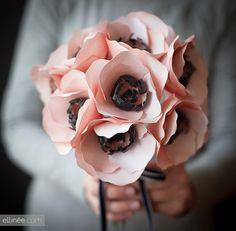 NIÑA PIJA Complementos de bodas originales y creativas: DIY Tutorial Ramo de Anemonas de Papel